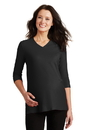 Port Authority - Ladies Silk Touch Maternity 3/4-Sleeve V-Neck Shirt. L561M