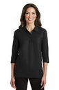 Port Authority - Ladies Silk Touch 3/4-Sleeve Polo. L562