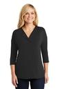 Port Authority Ladies Concept 3/4-Sleeve Soft Split Neck Top. LK5433.