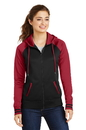 Sport-Tek Ladies Sport-Wick Varsity Fleece Full-Zip Hooded Jacket. LST236.