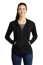 LST293 Sport-Tek Ladies PosiCharge Tri-Blend Wicking Fleece Full-Zip Hooded Jacket
