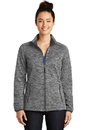 Sport-Tek Ladies PosiCharge Electric Heather Soft Shell Jacket. LST30.