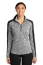 Sport-Tek® Ladies PosiCharge® Electric Heather Colorblock 1/4-Zip Pullover - LST397