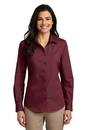 Port Authority<sup>;</sup> Ladies Long Sleeve Carefree Poplin Shirt. LW100.