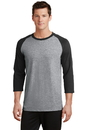 Port & Company 50/50 Cotton/Poly 3/4-Sleeve Raglan T-Shirt. PC55RS.