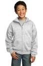 Port & Company - Youth Full-Zip Hooded Sweatshirt. PC90YZH.