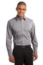 Port Authority - Fine Stripe Stretch Poplin Shirt. S647.