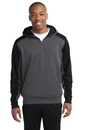 Sport-Tek - Colorblock Tech Fleece 1/4-Zip Hooded Sweatshirt. ST249.