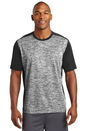 Sport-Tek PosiCharge Electric Heather Colorblock Tee. ST395.