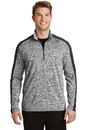 Sport-Tek PosiCharge Electric Heather Colorblock 1/4-Zip Pullover. ST397.