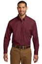 Port Authority Long Sleeve Carefree Poplin Shirt. W100.
