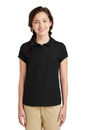 Port Authority Girls Silk Touch Peter Pan Collar Polo. YG503.