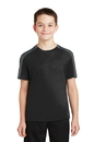 Sport-Tek Youth PosiCharge Competitor Sleeve-Blocked Tee. YST354.
