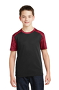 Sport-Tek Youth CamoHex Colorblock Tee. YST371.