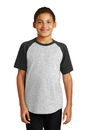 Sport-Tek Youth Short Sleeve Colorblock Raglan Jersey. YT201.