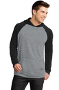 District - Young Mens 50/50 Raglan Hoodie. DT128.