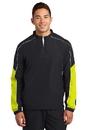 Sport-Tek Piped Colorblock 1/4-Zip Wind Shirt. JST64