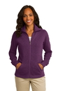 Port Authority Ladies Slub Fleece Full-Zip Jacket. L293.