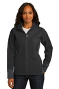 Port Authority Ladies Vertical Hooded Soft Shell Jacket. L319.