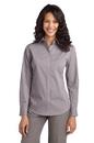 Port Authority - Ladies Fine Stripe Stretch Poplin Shirt. L647.
