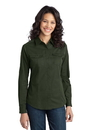 Port Authority - Ladies Stain-Resistant Roll Sleeve Twill Shirt. L649.