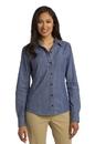 Port Authority Ladies Denim Shirt with Patch Pockets. L652.