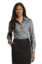 Port Authority Ladies Long Sleeve Gingham Easy Care Shirt. L654.
