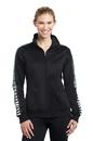 Sport-Tek Ladies Dot Sublimation Tricot Track Jacket. LST93
