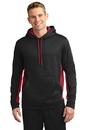 Sport-Tek® Sport-Wick® Fleece Colorblock Hooded Pullover - ST235