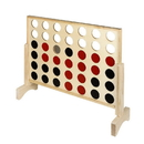 Hathaway BG3153 Quattro 4 in a Row Board Game with Solid Pinewood Frame