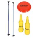 Hathaway BG5035 Bottle Blast Polish Horseshoes Set with Throwing Disc - Blue/Yellow
