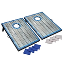 Hathaway BG5036 LED Cornhole Set with Target Boards and 8 Bean Toss Bags - Blue/White