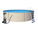 Blue Wave NB1061 Blue Lagoon 12-ft Round 48-in Deep Steel Wall Pool
