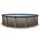 Blue Wave NB12927 Riviera 27-ft Round 54-in Deep Steel Wall Hybrid Above Ground Pool w/ 8-in Top Rail