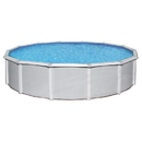 Blue Wave NB1644 Samoan Round 52-in Deep Steel Wall Above Ground Pool w/ 8-in Top Rail - 24-ft / 52-in
