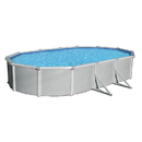 Blue Wave NB1648 Samoan Oval 52-in Deep Steel Wall Above Ground Pool w/ 8-in Top Rail - 12-ft x 24-ft / 52-in