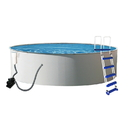 Blue Wave NB2024 Presto 24-ft Round 52-in Deep Metal Wall Swimming Pool Package