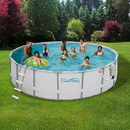 Summer Waves Elite NB2030 15-ft Round 48-in Deep Metal Frame Swimming Pool Package