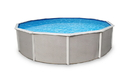 Blue Wave NB2528 Belize 24-ft Round 52-in Deep Steel Wall A/G Pool w/ 6-in Top Rail
