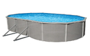 Blue Wave NB2536 Belize Oval Steel Wall Above Ground Pool w/ 6-in Top Rail - 18-ft x 33-ft / 52-in