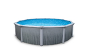 Blue Wave NB2615 Martinique 27-ft Round 52-in Deep Steel Wall A/G Pool w/ 7-in Top Rail