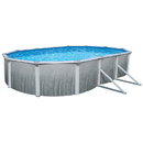 Blue Wave NB2625 Martinique 18-ft x 33-ft Oval 52-in Deep Steel Wall A/G Pool w/ 7-in Top Rail