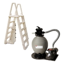 Blue Wave NB911 Above Ground Pool Sand Filter Equipment Package - 18-in / Premium / 21-ft Round