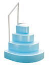 Blue Wave NE100BL Wedding Cake Step w/ Liner Step Pad