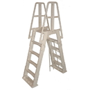 Vinyl Works NE120T Premium A-Frame Above Ground Pool Ladder - Taupe