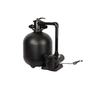 FlowXtreme NE4501 Pro 22-in 300 lb Sand Filter System with 1.5 HP Pump for AG Pools