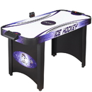 Carmelli NG1015H Hat Trick 4-Ft Air Hockey Table for Kids and Adults with Electronic and Manual Scoring, Leg Levelers