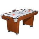 Carmelli NG1037 Midtown 6-Foot Air Hockey Family Game Table with Electronic Scoring, High-Powered Blower and Cherry Wood-Tone