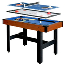 Carmelli NG1131M Triad 3-In-1 48-In Multi Game Table with Pool, Glide Hockey, and Table Tennis for Family Game Rooms