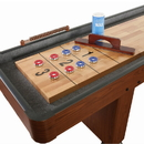 Carmelli NG1210 Challenger 9-Ft Shuffleboard Table w Dark Cherry Finish, Hardwood Playfield and Storage